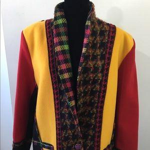 Vintage Coloratura 100% Wool Blazer